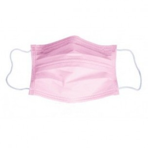 Maskers Profistar 3-laags - roze - 50 stuks