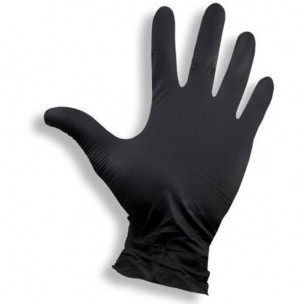 Handschoen Top Glove nitril zwart - 100 st - medium